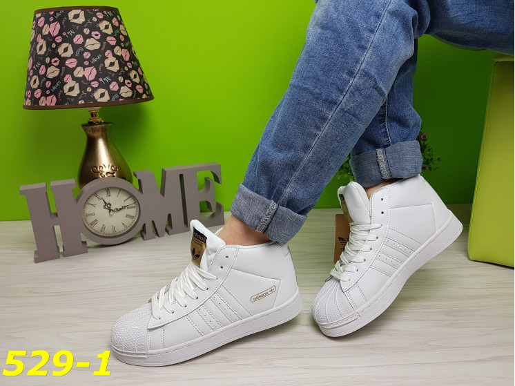 4e6390d3b Кроссовки суперстар белые с брендовыми значками, женская обувь -  Интернет-магазин
