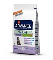 Эдванс для стерилизованых котов выведение шерсти Индейка и рис 10 кг