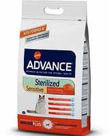 Эдванс Сенситив для стерилизованых котов с чуствительным пищеварением Лосось и рис 10 кг