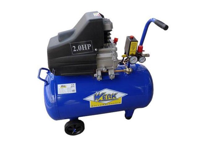 Поршневой масляный компрессор 200 л WERK BM-50  воздушный, с ресивером 50 л. одноцилиндровый 1,9 кВт