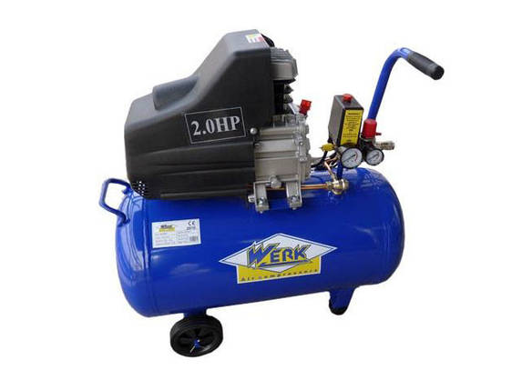 Поршневой масляный компрессор 200 л WERK BM-50  воздушный, с ресивером 50 л. одноцилиндровый 1,9 кВт, фото 2