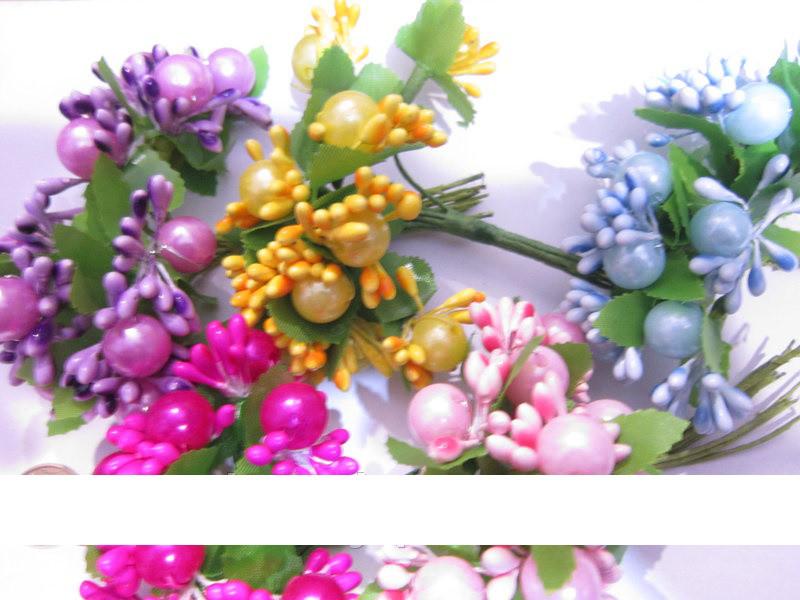 СЛОЖНАЯ ТЫЧИНКА С БУСИНКОЙ, упаковка - 120 тычинок (10 букетиков одного цвета)