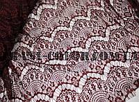 Ткань гипюр реснички бордовый