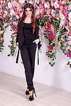 """Офисный женский брючный костюм """"SELF"""" с пиджаком и лампасами, фото 3"""