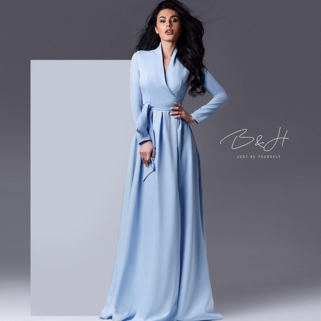 60c6ed9e5e8 Длинное платье с запахом - купить недорого от 1 050 грн. в Украине ...