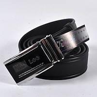 Мужской стильный кожаный ремень LEE (черный)