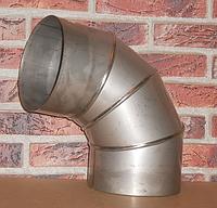 Колено 90° дымохода нерж толщ 0.8мм Ø120мм