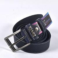 Стильный кожаный ремень LEVIS (синий)