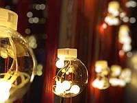 """Светодиодная гирлянда бахрома """"Новогодние игрушки"""", фото 1"""