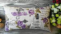 Подушка диванная сиреневые розы 2,  45 см * 25 см
