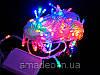 Внутренняя Гирлянда светодиодная нить, 100 led  белый прозрачный провод - цвет разноцветный