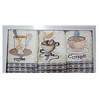 Набор кухонных вафельных полотенец Кофейный