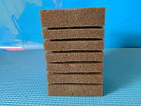 Мочалка серая (10*10*15)см, с прорезями для лучшей фильтрации