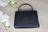 Кожаная черная сумка 01634