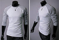 Пуловер мужской с рукавами реглан светло-серый