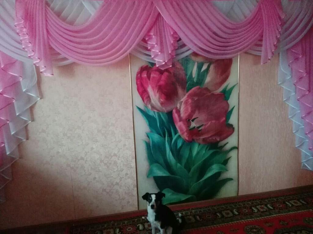 Ламбрекен в зал розовый 3 метра (г.Чернигов)