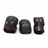 Комплект детской защиты Maraton Micro, черно-красный