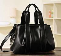 Женская вместительная сумка черная, фото 1