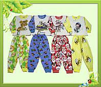 Пижама детская с футера с начесом, с прямой печатью по  ткани.