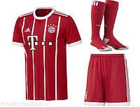 Полный детский комплект Баварии  футбольная форма + гетры + печать номера  имени 79d9e09d712