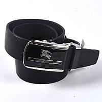 Мужской стильный кожаный ремень BURBERRY (черный)