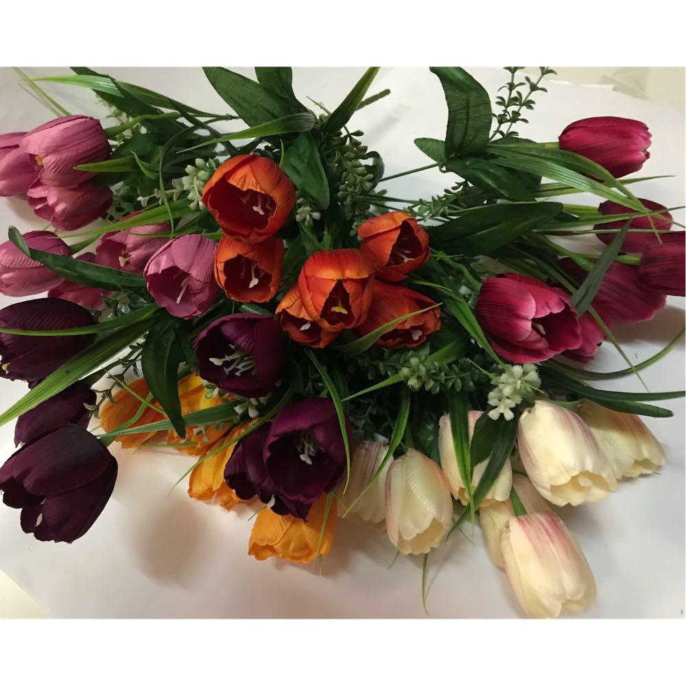 Искусственные цветы.Искусственный букет тюльпанов.