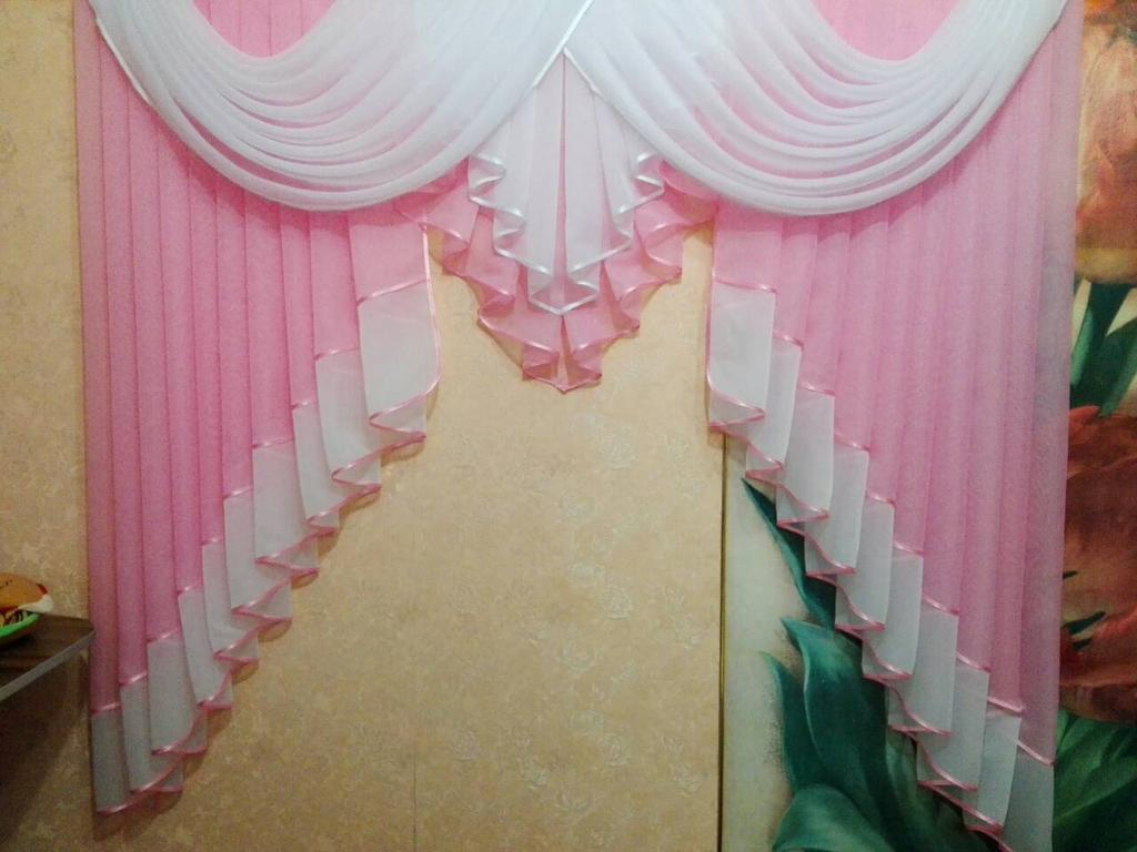Ламбрекен 1.5-2 метра розовый (Бровары)