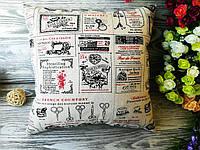Подушка льняная рекламные наклейки,  35 см * 35 см