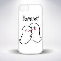 """Чехол для смартфона, с белой основой, """"Влюбленные привидения"""""""