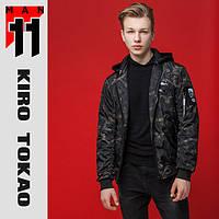Куртка-Бомбер демисезонная Kiro Tokao - 3312S черный-хаки