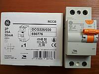 УЗО 2 полюса 25А 30мА Устройство защитного отключения Domus General Electric