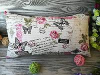 Подушка диванная розовые розы 2,  42 см * 30 см