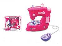 Детская швейная машинка Sewing Machine 723: шьет, педаль управления (свет+звук)
