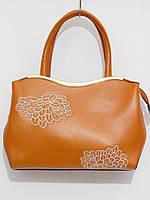 Женская сумка абстракция цвет кирпичный, фото 1