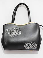 Женская сумка абстракция цвет черный, фото 1