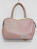 Женская сумка абстракция цвет пудра, фото 1
