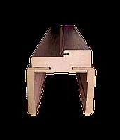 Телескопическая дверная коробка (Каштан)