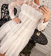 Шикарное кружевное платье свободного кроя в расцветках арт-494, фабричный Китай db-1802.002