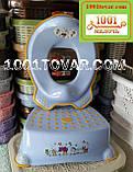 Антискользящая детская пластиковая накладка (адаптер) на унитаз, фото 5