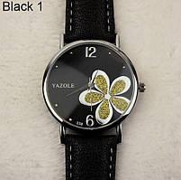 181зол - Наручные часы женские с черным ремешком