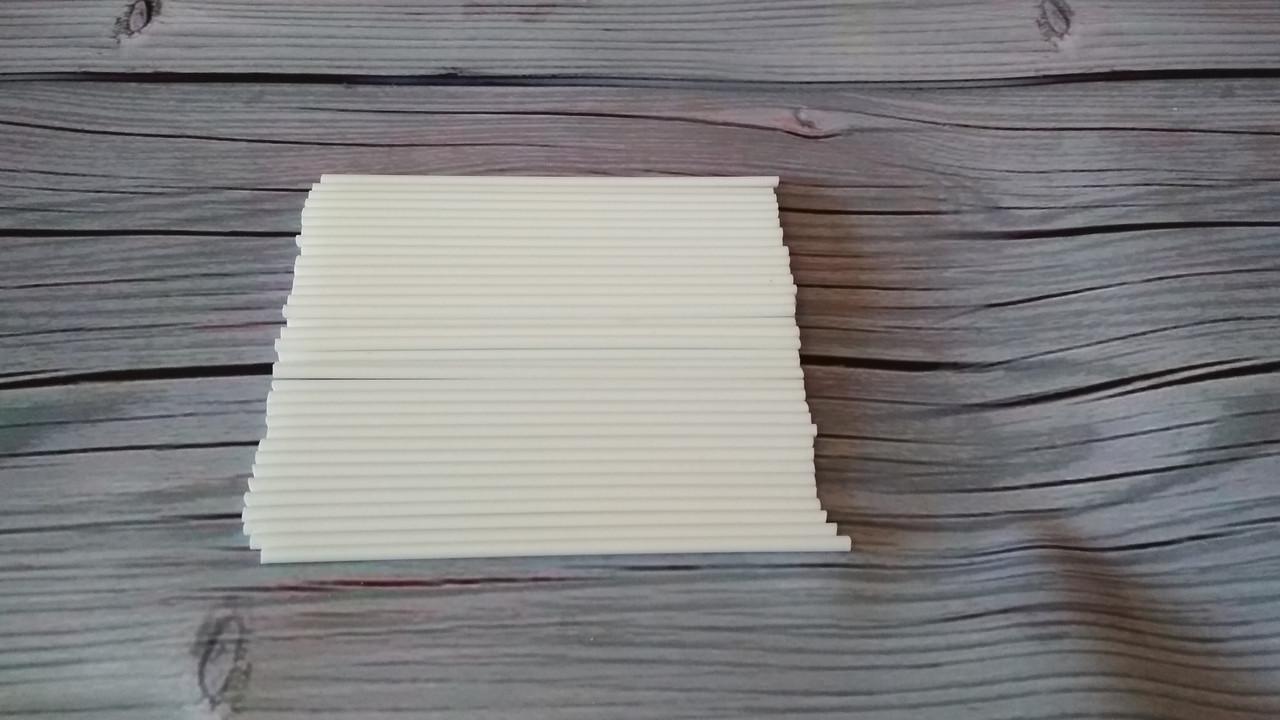 """Палочки для Кейк попсов """"Белые"""" (пластик) 15 см"""