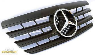 Решетка радиатора Mercedes W210 рестайл стиль AMG (черный мат)