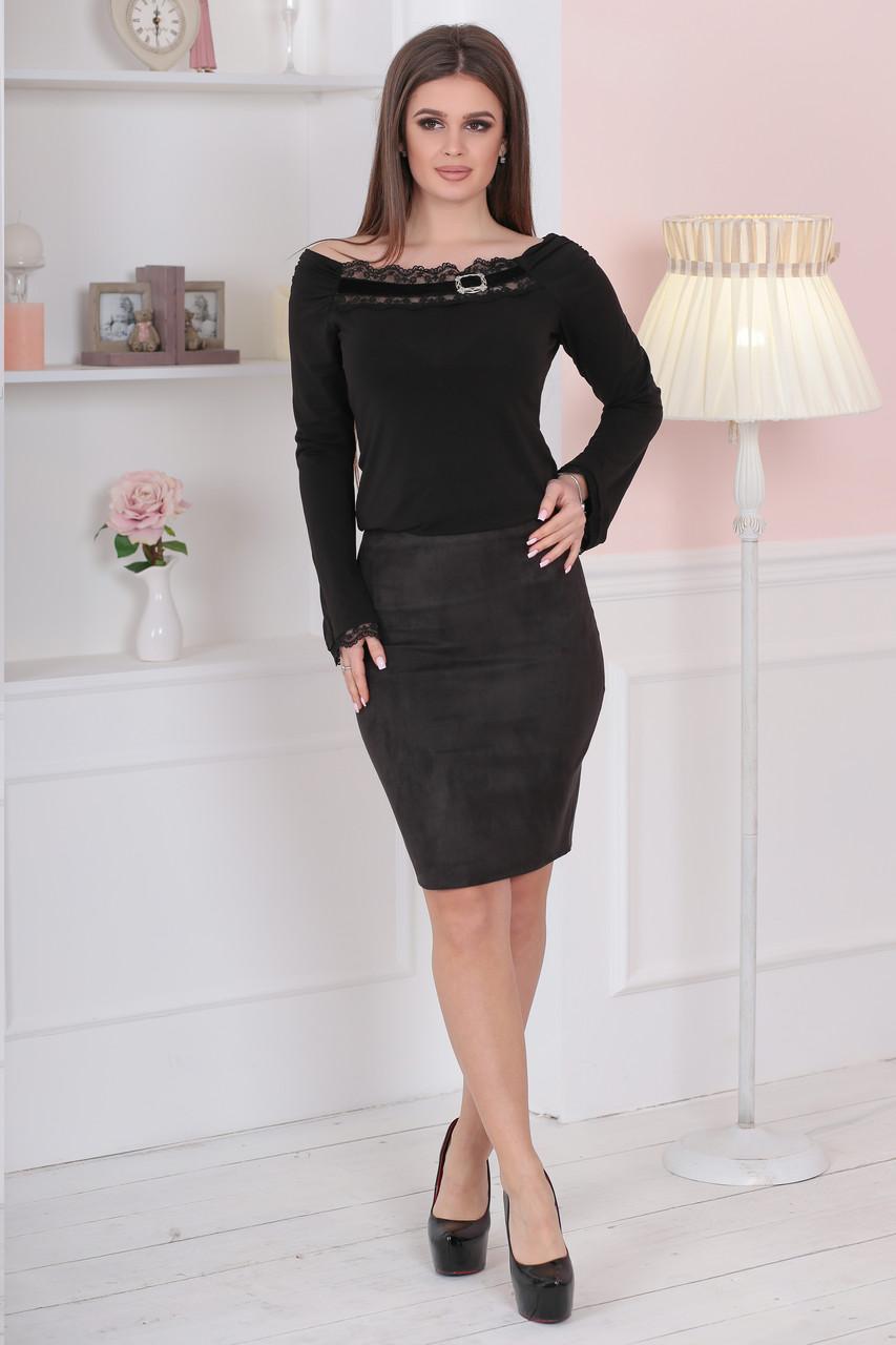 Женская замшевая юбка