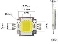LED матрица 10W для прожектора 10w led 10w 30-36V