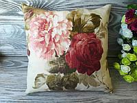 Подушка диванная пионы-розы, 32 см *28 см
