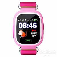 Детские часы Q100 с GPS Pink, Wi-Fi, GPS / GSM / GPRS, микрофон, динамик, совместимость с Android, iOS