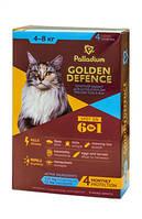 Палладиум Золотая защита Капли на холку для кошек от 4 до 8 кг 4х1мл