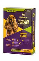 Палладиум Золотая защита Капли на холку для собак от 4 до 10 кг 4х1мл