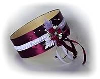 Свадебное сито, марсала/бордо.