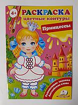 Раскраска СКА5: Цветные контуры Принцессы 93861 Пегас Украина